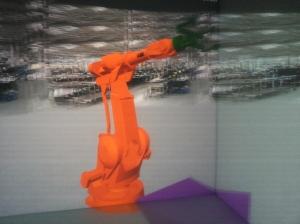 3D-mallinnettu robotti